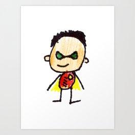 Superhero 2 Art Print