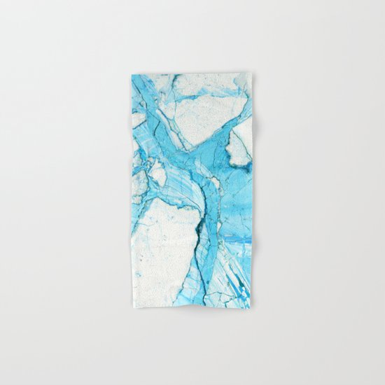 Blue marble Hand & Bath Towel