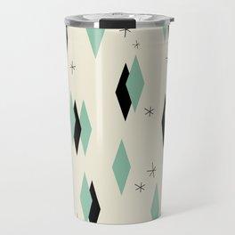 Mid Century diamonds geometrical pattern retro Travel Mug