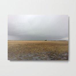 Gloomy Landscape - Tiny Iceland House Metal Print