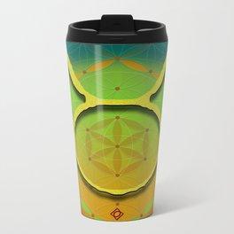 Flower of Life TAURUS Astrology Design Metal Travel Mug