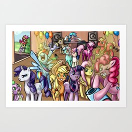 Pony Party Art Print