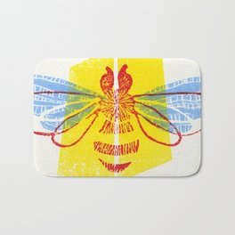 Be Safe - Save Bees linocut Bath Mat