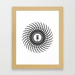 Disc Golf Basket Chains Framed Art Print