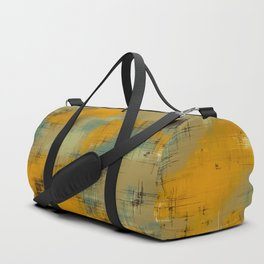 painting texture abstract background in brown and green Duffle Bag