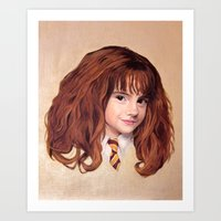 hermione Art Prints featuring Hermione by Shannon Forringer