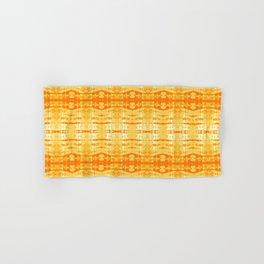 Satin Shibori Yellow Hand & Bath Towel