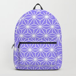 Cold Lilac Geometric Flowers and Florals Isosceles Triangle Backpack