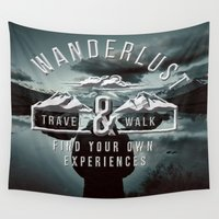 wanderlust Wall Tapestries featuring Wanderlust by UtArt