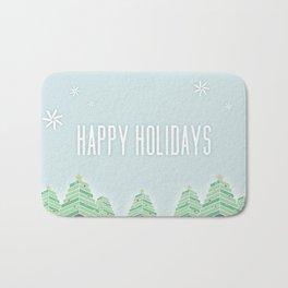 Happy Holiday Trees Bath Mat