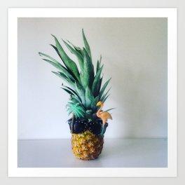 Party Pineapple  Art Print