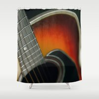 guitar Shower Curtains featuring Guitar by Bruce Stanfield