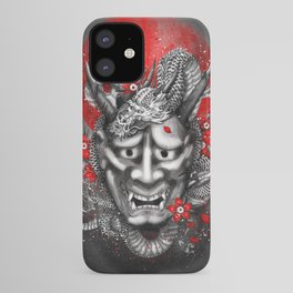 Hannya dragon mask iPhone Case