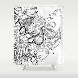 DOODLE MANIA Shower Curtain