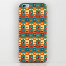 Dinner pattern iPhone Skin