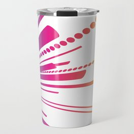 Abstract Colour Burst Travel Mug