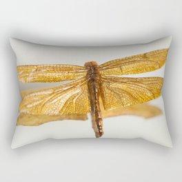 Gilt Dragonfly Rectangular Pillow