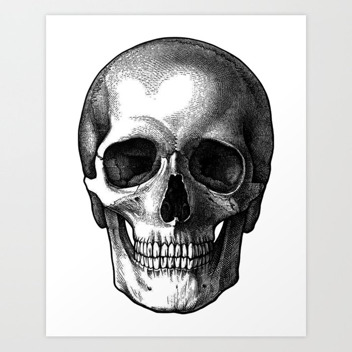 Head Skull Art Print by denzhu