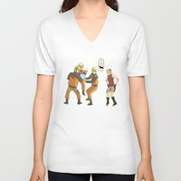 naruto V-neck T-shirts featuring Naruto Science by Solidus