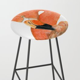 Breezy Flamingo by Teresa Thompson Bar Stool