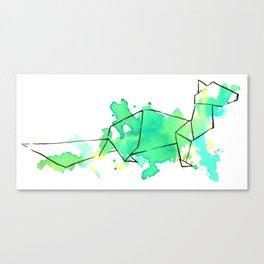 Origami: Ferret Canvas Print