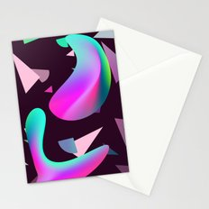 Move - gradient shape pattern Stationery Cards
