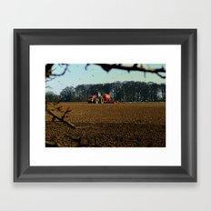 Through The Hedgerow Framed Art Print