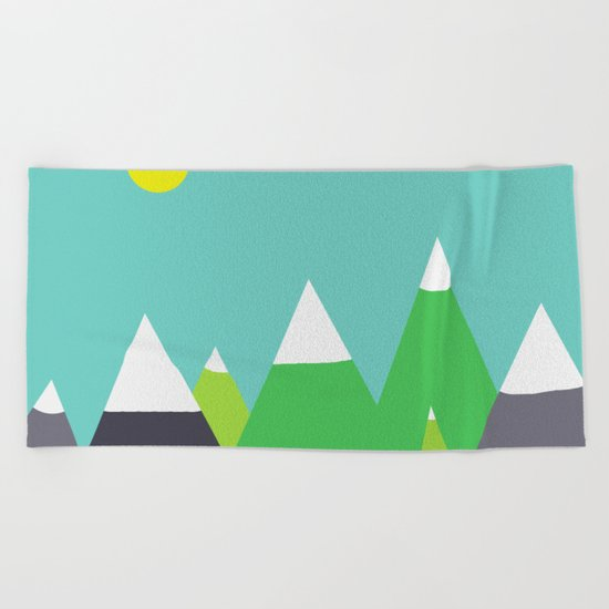 Mountain Beach Towel