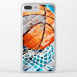 Modern basketball art 3 Clear iPhone Case