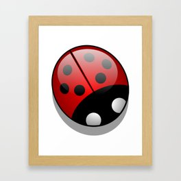 Ladybug, Ladybird, Lady Beetle - Black Red White Framed Art Print