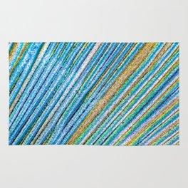 Vibrant Glitter Peacock Rug