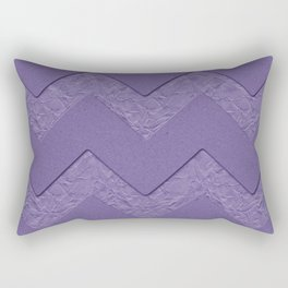 Cardboard background with zig zag pattern and Pantone color 2018 Rectangular Pillow