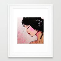 emily rickard Framed Art Prints featuring Emily by eva lhyn