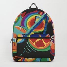 Colorful Abstract Fruit Backpack