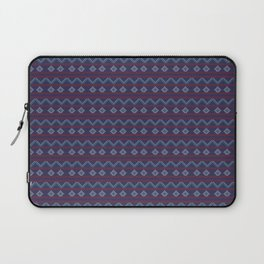 Blue And Red Knitted Christmas Decor Laptop Sleeve