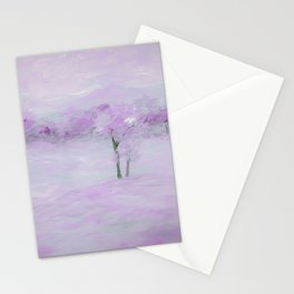 Purple Landscape with Trees Stationery Cards