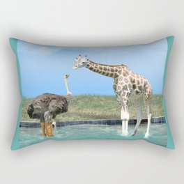 The Ostrich with Galoshes Rectangular Pillow