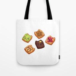 Cat Toasts Tote Bag