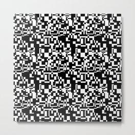geometric decomposition in black Metal Print