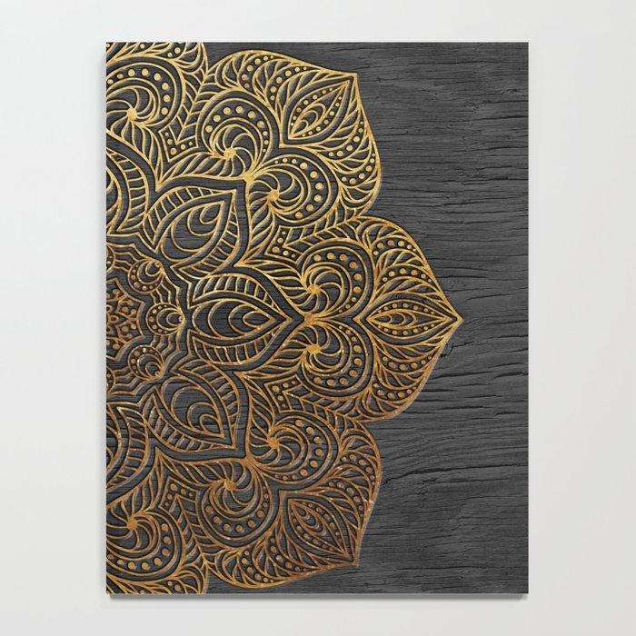 Wood Mandala - Gold Notebook