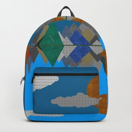 Over The Fabric Hills And Far Away Backpack
