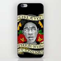 tyler spangler iPhone & iPod Skins featuring Tyler by GOLDEN STUDIOS