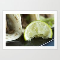 lime green Art Prints featuring Lime by Jessica Dewhurst