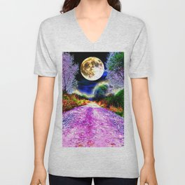 Moonlight Pathway Unisex V-Neck