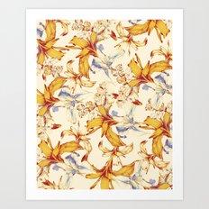 Irisses & Coriander Art Print