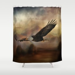 Eagle Flying Free Shower Curtain