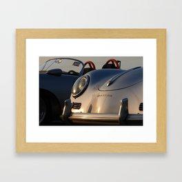Silver Porsche 356 dusk Framed Art Print