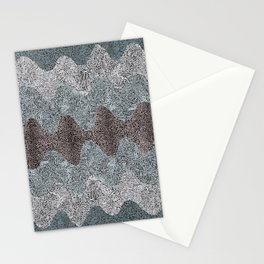 Retro Curves Hi Contrast Stationery Cards