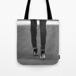 Excess Black and White Tote Bag