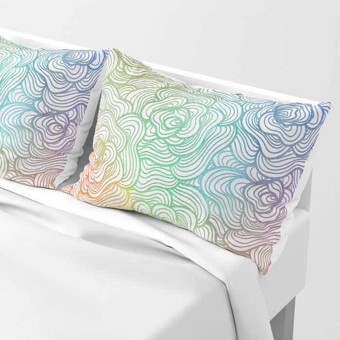 Abstract Roses 2 Pillow Sham
